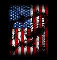 eagle flag - american flag vector image