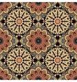 flower pattern boho brown vector image vector image