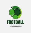 football saudi arabia logo template design vector image vector image