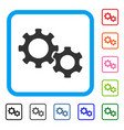 gears framed icon vector image vector image