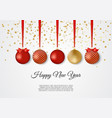 Gold and red decorative christmas balls new year