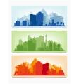 horizontal banners cityscape urban vector image vector image