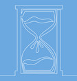 hourglass one line style deadline concept vector image vector image