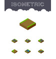 isometric way set of footpath flat navigation vector image vector image