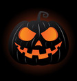 jack o lantern pumpkin smiley face vector image