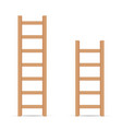 ladder in light brown color vector image