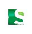 letter s landscape logo template vector image vector image