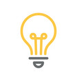 light bulb icon line yellow and grey color vector image