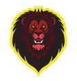 lion head sports mascot logo design vector image vector image