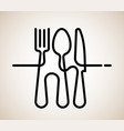 logo a cafe or restaurant made forks spoons vector image vector image