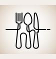 Logo a cafe or restaurant made forks spoons