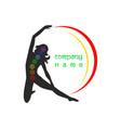 logo yoga12 vector image vector image
