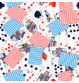lot realistic playing cards seamless pattern vector image vector image