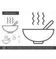 miso soup line icon vector image