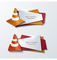 modern traffic cones banners icons set vector image vector image