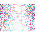 pattern with colorful dots vector image vector image