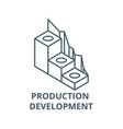 production development line icon linear vector image vector image