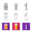 pub and bar icon set of vector image