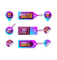 purple discount price promotion tag vector image