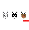 reindeer icon 3 types isolated sign vector image vector image