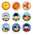romania set of traditional cultural symbols vector image vector image