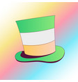saint patricks day green card color vector image vector image