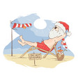 santa claus beach vacation vector image