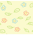 seamless pattern of childish picture vector image vector image