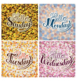 Set of Lettering compositions vector image vector image