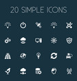 set of simple innovation icons vector image vector image