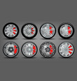 set wheels with disks and rubber vector image