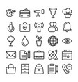 shopping and e commerce icons 4 vector image vector image
