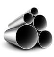 steel metal tubes vector image vector image