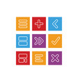 style flat icons arithmetic vector image