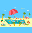 summer beach rest at sea vacation with people vector image vector image