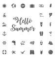 summer icons set stock cartoon signs for vector image