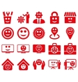 Tools gears smiles management icons vector image