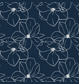 trendy seamless floral print with magnolia flowers vector image vector image
