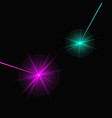 two laser beams vector image vector image