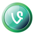 vine logo design inside a green bubble icon on a vector image vector image