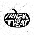 Vintage Halloween pumpkin silhouette in grunge vector image vector image