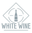 Wine logo simple gray style