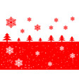 with snow and christmas trees vector image