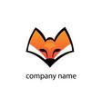 wolf head simple logo color design vector image vector image
