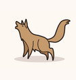 wolf howling cartoon graphic vector image vector image