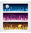 night city banners vector image
