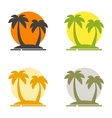 Summer set of logos depicting the silhouette of vector image