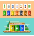 Waste management and recycle concept Flat vector image