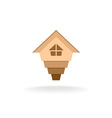 Arrow up house logo vector image