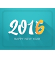 2016 happy new year lettering print vector image